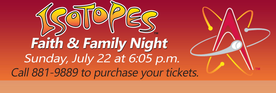 Isotopes Faith and Family Night